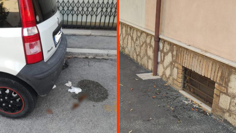 Sporcizia ad Avezzano, vomito ed escrementi in centro