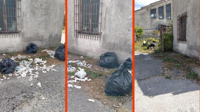 Ancora rifiuti gettati a terra a Scurcola Marsicana