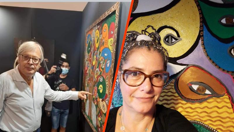 L'opera della pittrice marsicana Antonella Murzilli cattura l'attenzione di Vittorio Sgarbi