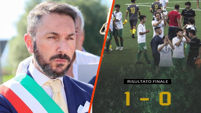 """Il sindaco Vincenzo Giovagnorio festeggia il successo dell'ASD Tagliacozzo: """"Complimenti per questa prima vittoria"""""""