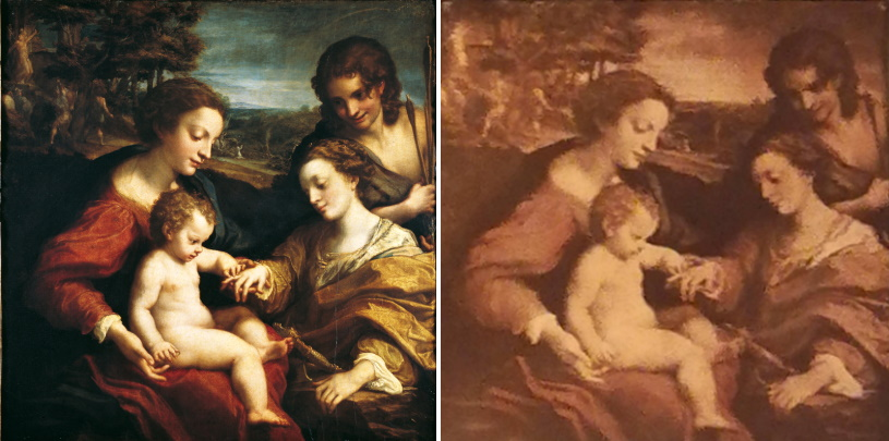 """Una copia del """"Matrimonio mistico di Santa Caterina"""" del Correggio nella Casa Museo Mazzarino di Pescina"""