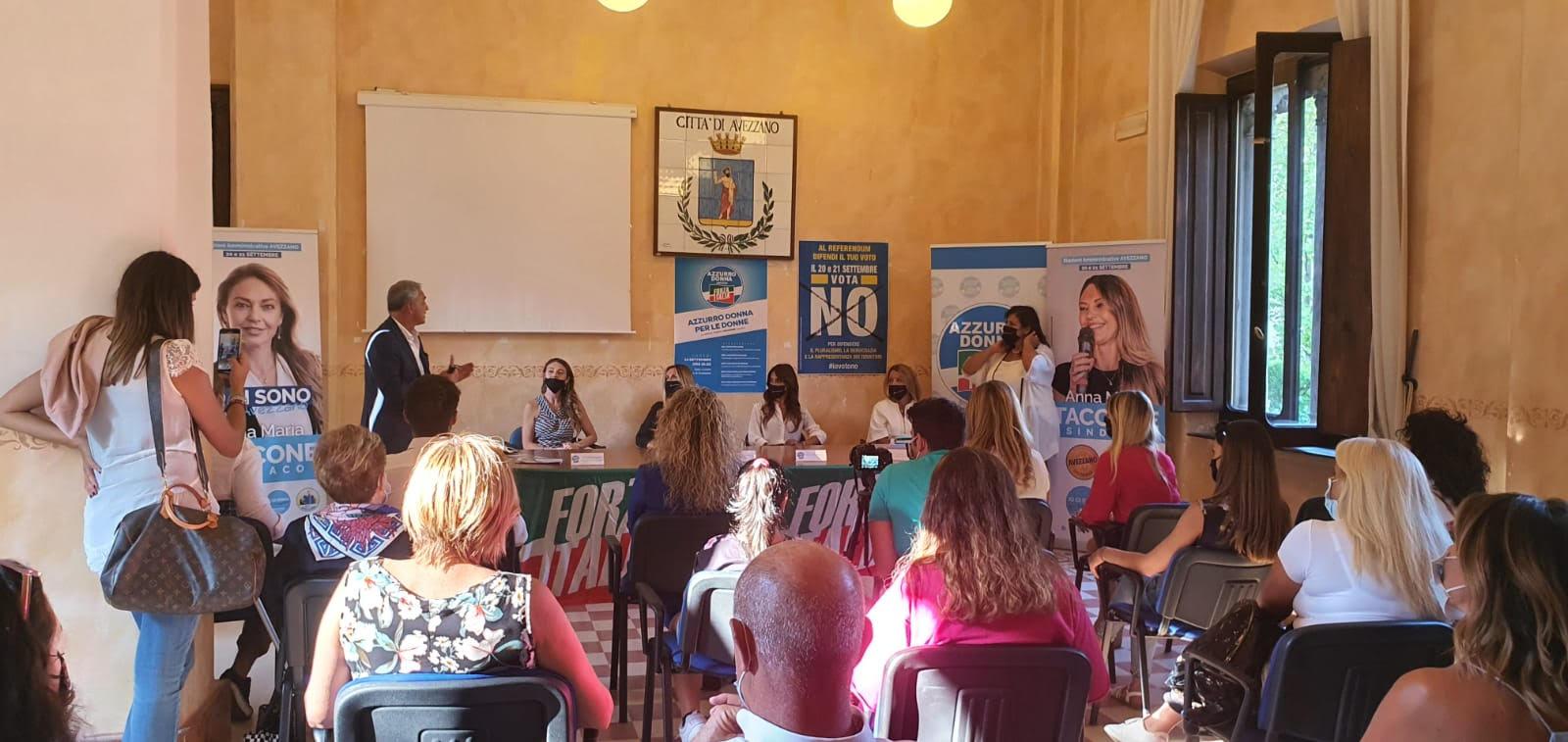 Elezioni Avezzano, le quote rosa di Forza Italia a sostegno della Taccone