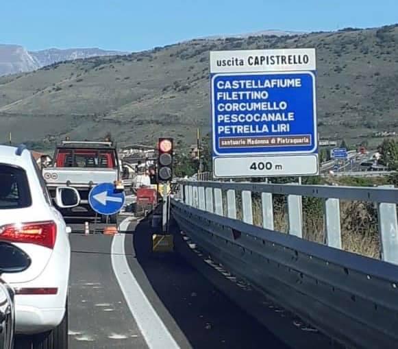 Lavori sulla Superstrada Avezzano-Sora, traffico rallentato