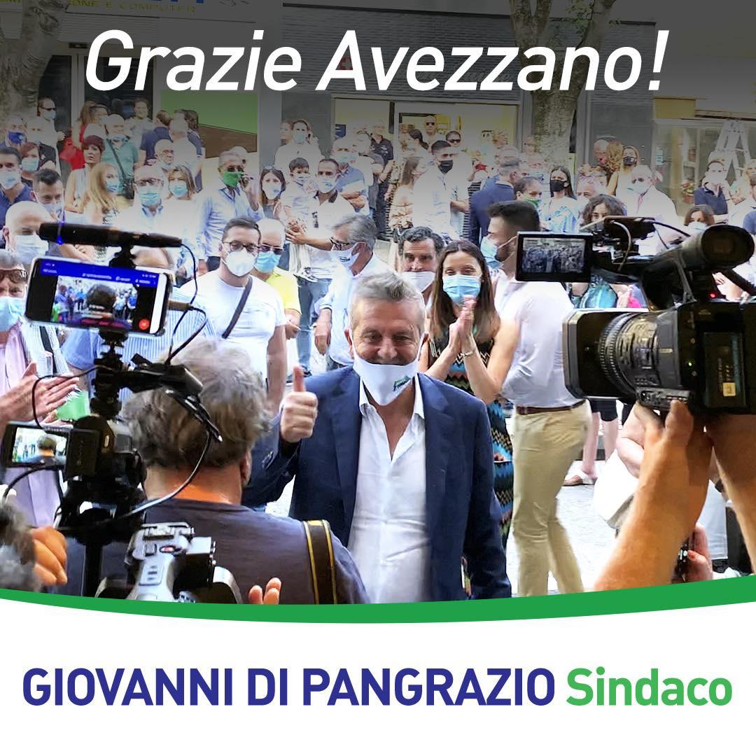 """Il Sindaco di Avezzano Giovanni Di Pangrazio: """"Grazie Avezzano, il mio cuore è tuo!"""""""