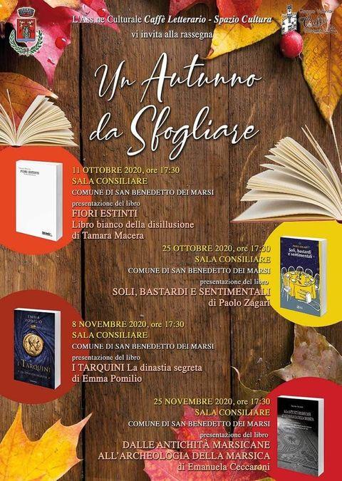 """L'Associazione culturale Caffè Letterario presenta """"Un autunno da sfogliare"""""""
