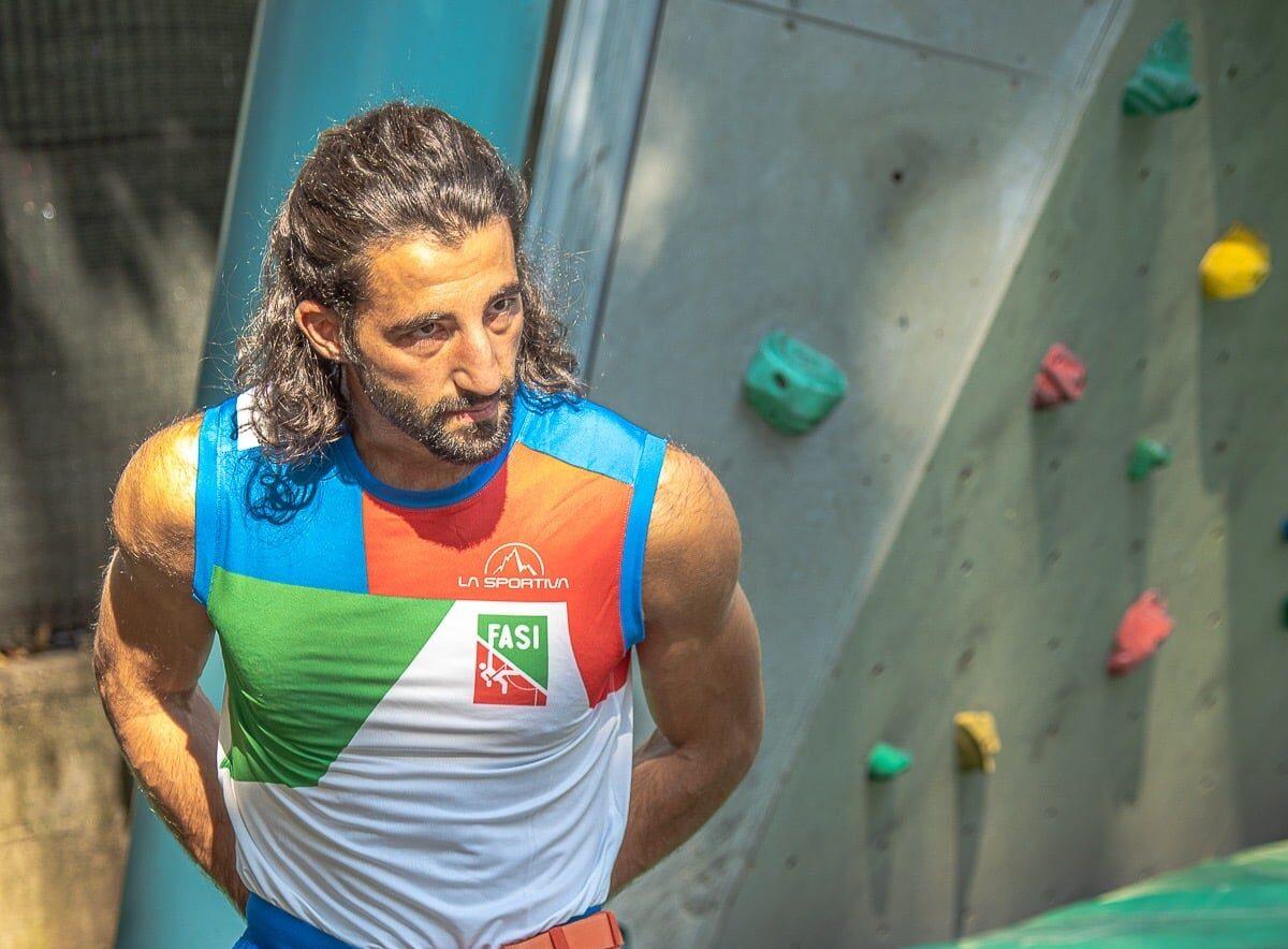 L'atleta pescinese Federico Di Felice al Raduno open della Nazionale italiana Paraclimbing