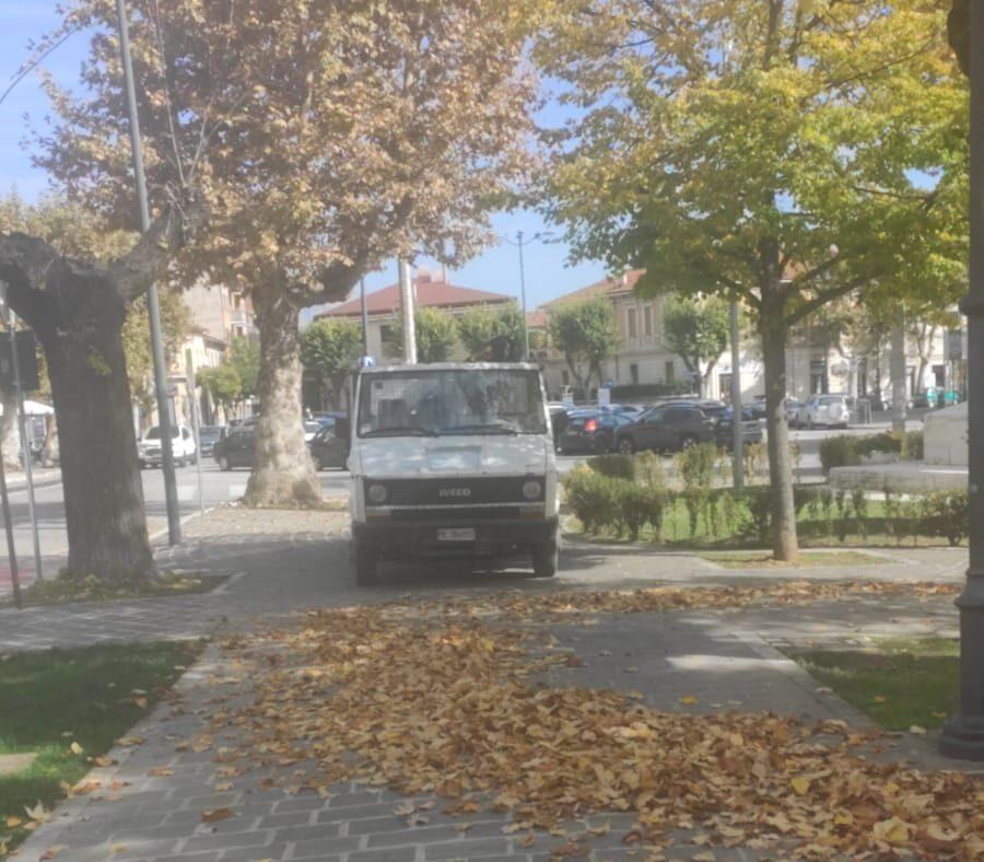 Avezzano, Piazza Torlonia si sta facendo bella per la stagione autunnale