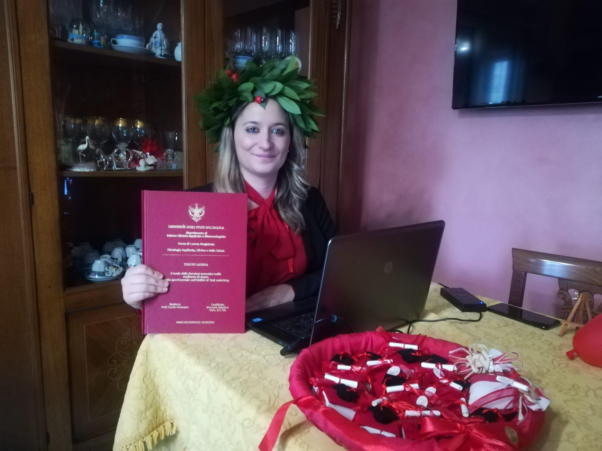 Laurea magistrale in Psicologia Applicata Clinica e della Salute per Sabatino Manuela