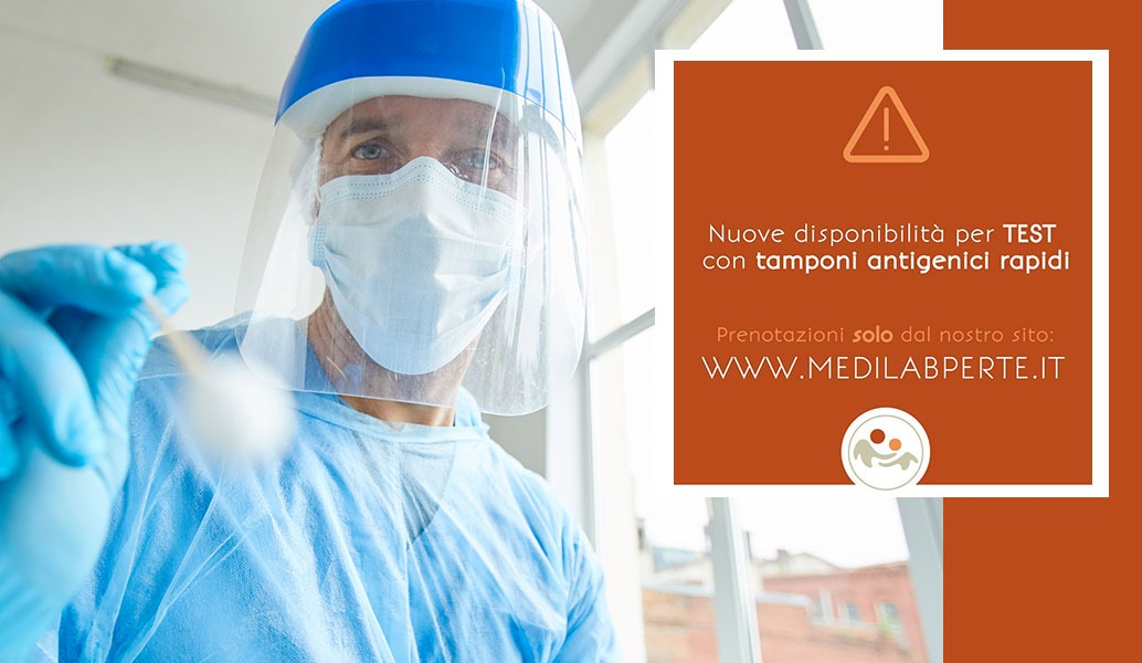 Nuova disponibilità per test con tamponi antigenici rapidi presso la Mediclina ex Medilab