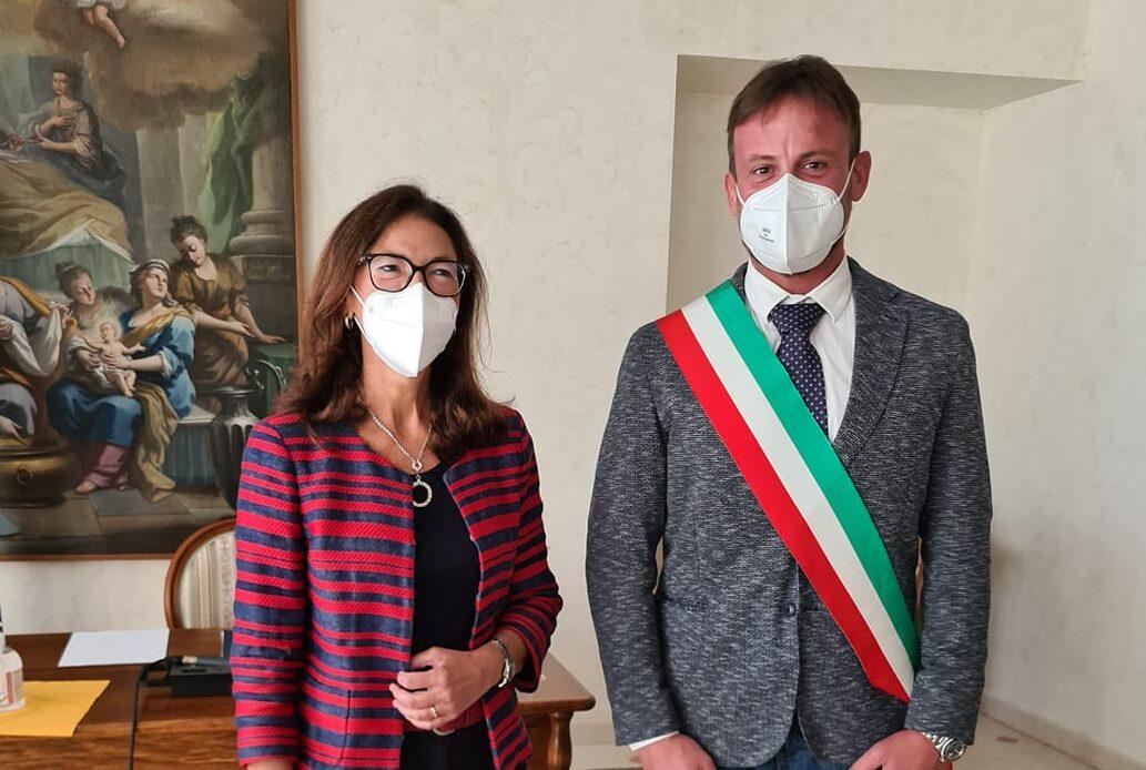 Cappadocia, saluto istituzionale tra il sindaco Lorenzin il prefetto di L'Aquila Torracco