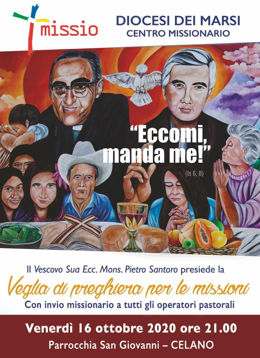 """Celano, il Vescovo dei Marsi Mons. Santoro presiederà la """"Veglia di preghiera per le missioni"""""""