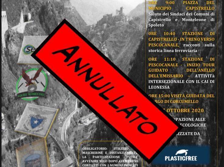 Aumento casi Covid nella Marsica, annullate le giornate del 24 e 25 ottobre nella Valle Roveto