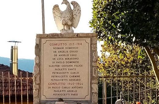 Restaurato il Monumento ai Caduti di Montesabinese di Carsoli