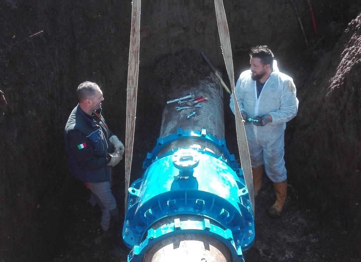 Tecnici del Cam scoprono e riparano in 48 ore una grossa perdita all'acquedotto di Verrecchie