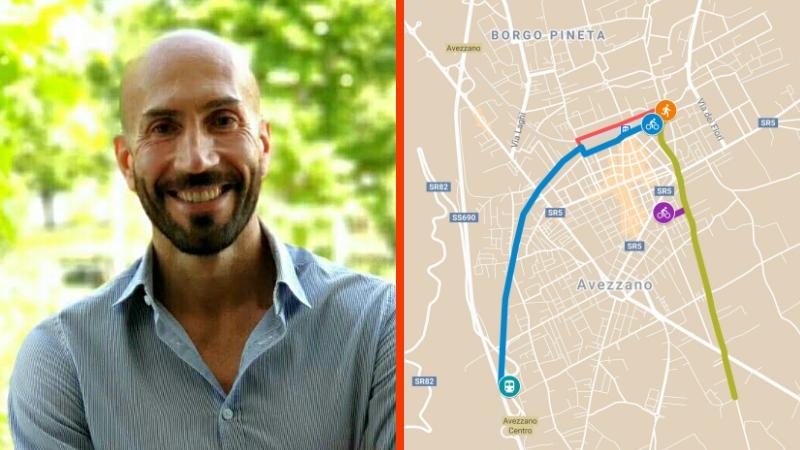 Giovanni Di Pangrazio sostiene la nuova ciclovia pensata dall'ingegnere Sergio Di Cintio