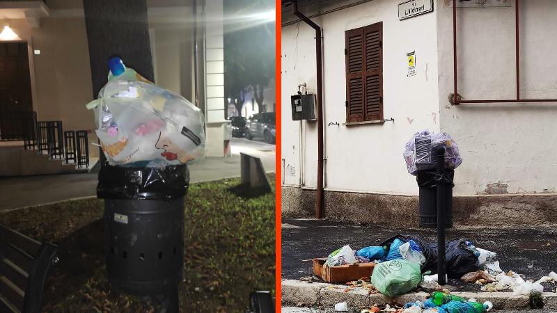"""Ad Avezzano gli """"zozzoni"""" non si fermano, pile di rifiuti in tutta la città"""