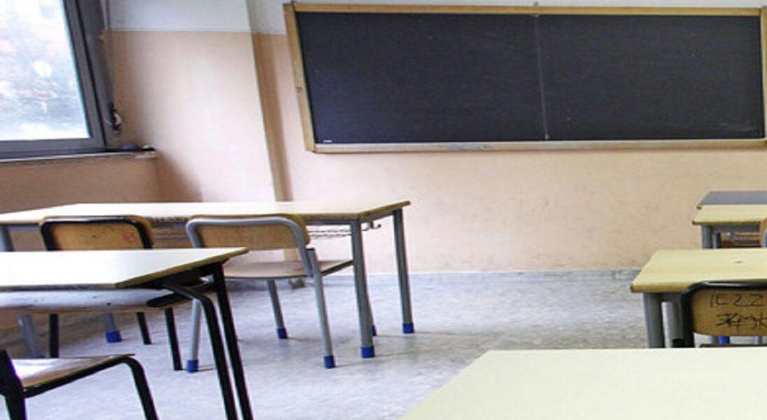 Classe della scuola media di Pescina in quarantena