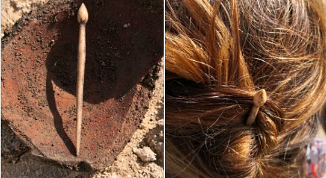 Antico spillone per capelli ritrovato durante gli scavi ad Alba Fucens