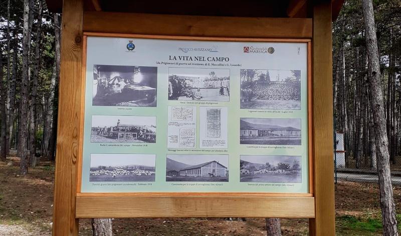 Campo di Concentramento di Avezzano, installati alla Pineta i pannelli illustrativi definitivi