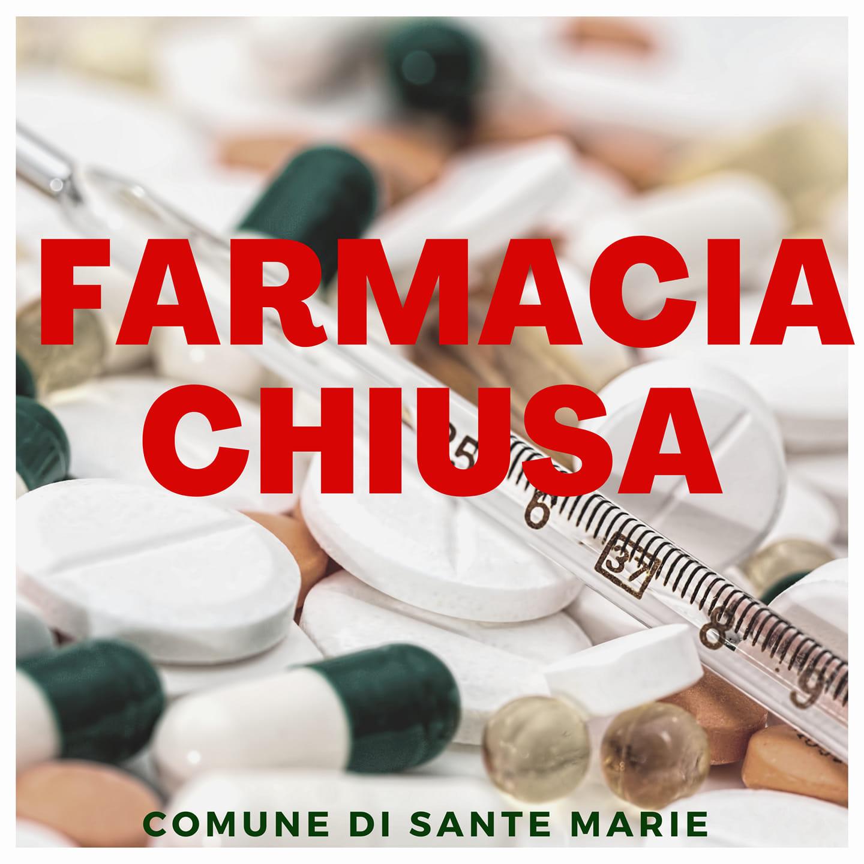 Chiusa la Farmacia a Sante Marie, gestori in quarantena per un caso di Covid in famiglia
