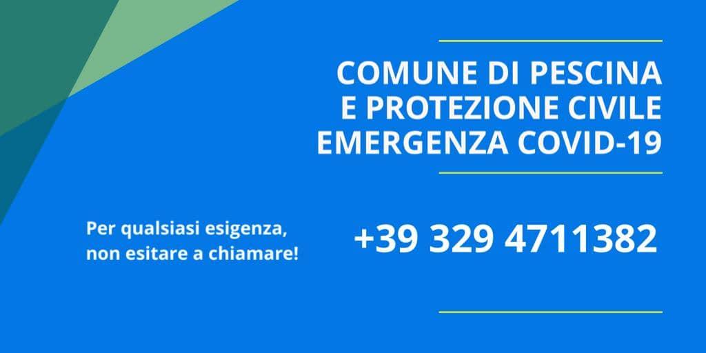 Emergenza Covid-19, il comune di Pescina attiva un numero da chiamare