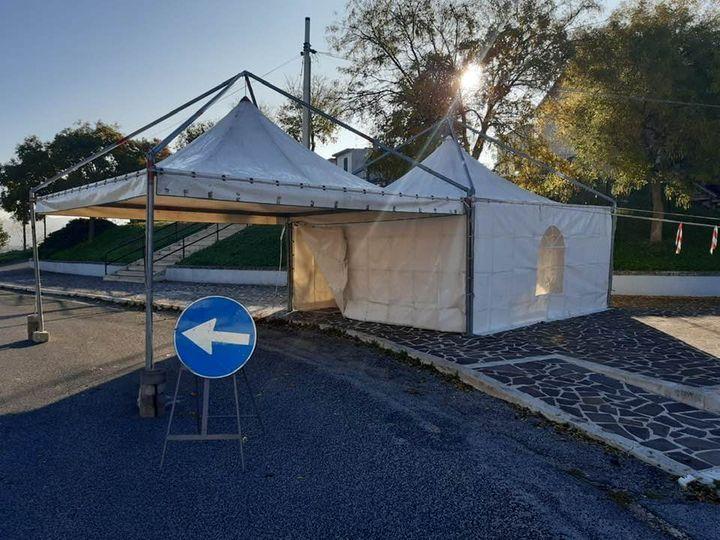 A Cerchio in arrivo un drive-in con doppia tenda con personale medico e sanitario