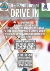 Emergenza Covid-19, domani drive-in a Pescina
