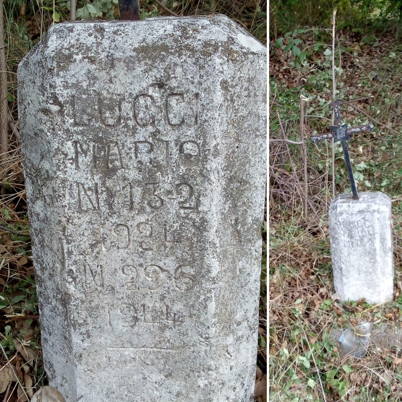 Sparita la pietra con la croce in ricordo di Lucci Mario, giovane di Cerchio che morì durante la seconda guerra mondiale
