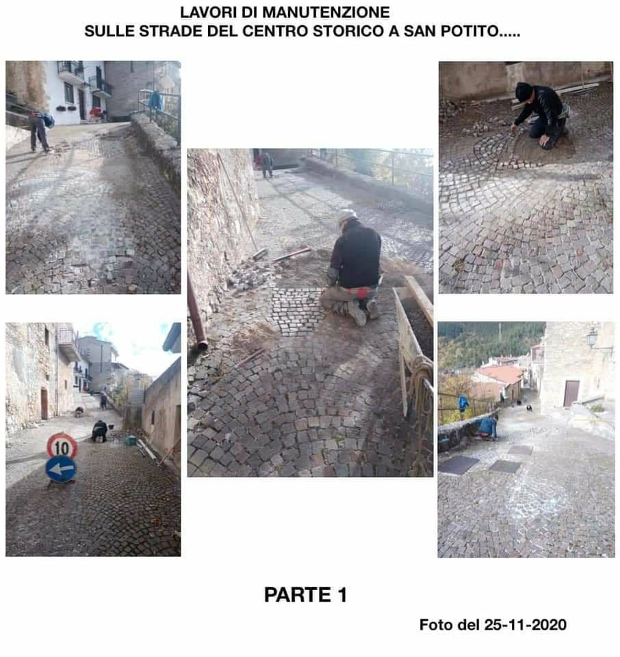 San Potito di Ovindoli, continuano i lavori di manutenzione del centro storico