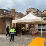 Primo giorno di screening a Sante Marie, visita del Direttore Regionale della Protezione Civile Regione Abruzzo Mauro Casinghini