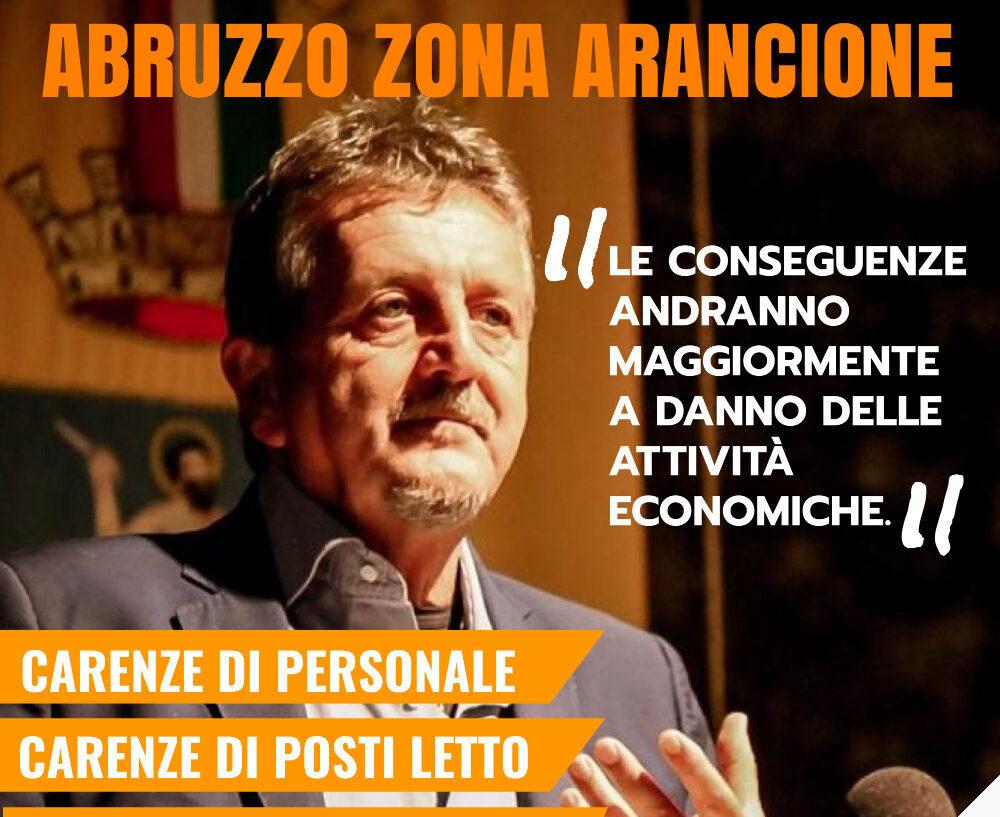 """Abruzzo zona arancione, Di Pangrazio: """"Lo avevamo previsto. Ora recuperare tempo perso"""""""