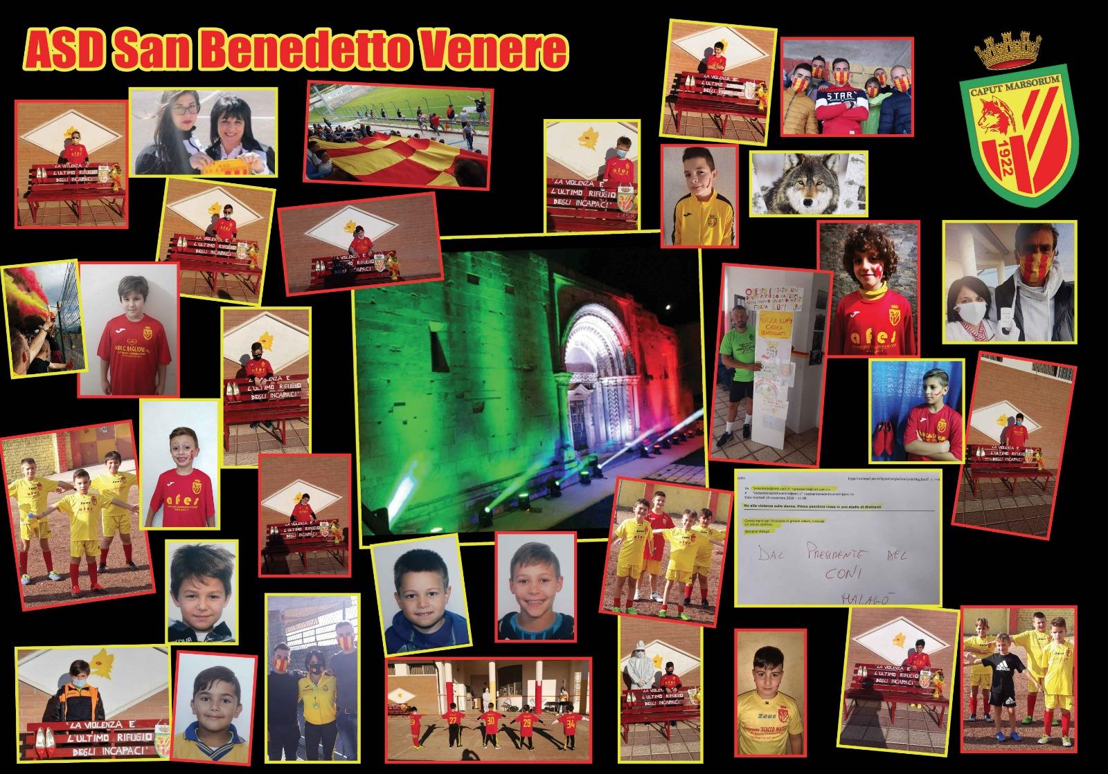 """San Benedetto dei Marsi, una panchina rossa contro la violenza sulle donne sarà installata nello stadio comunale """"Manfredo Profeta"""""""