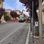 Avezzano, lavori in corso su via Pagani