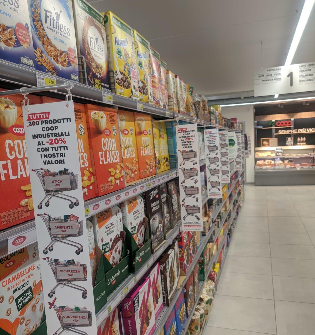 COOP Centro Italiae superconti ancora di più al fianco delle famiglie: scontati tutti i prodotti coop industriali in assortimento