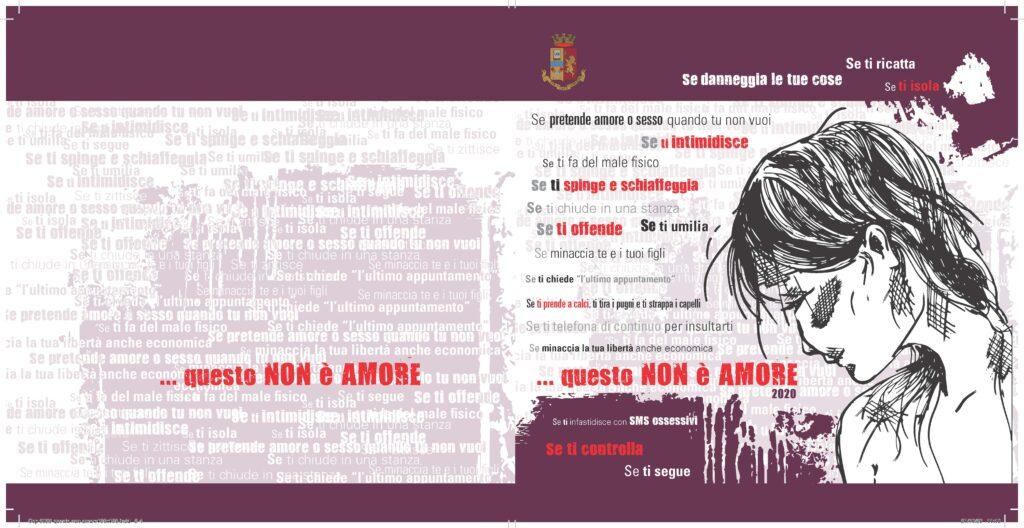 """""""Questo non è amore"""", la campagna di sensibilizzazione della Polizia di Stato contro la violenza di genere"""