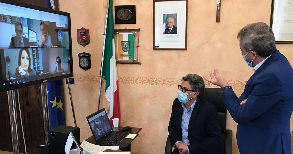 Riunione con l'ufficio speciale per la ricostruzione per le scuole di Avezzano