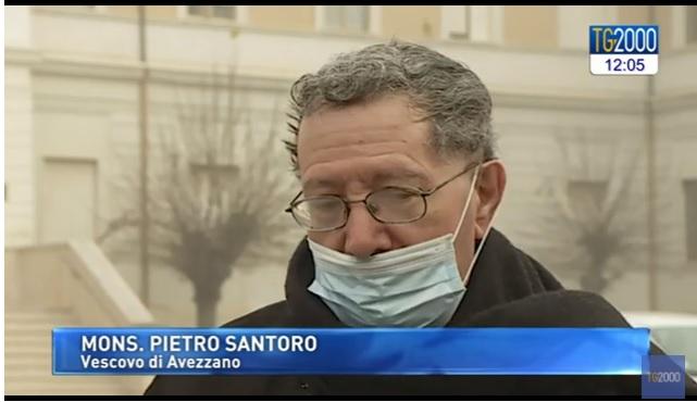 """Emergenza Covid-19, il Vescovo Santoro a TV2000: """"questa pandemia nella Marsica ha provocato ultimamente una rete di povertà e di fragilità molto forte"""""""