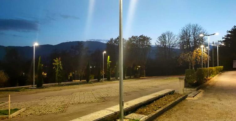 Nuovo impianto di illuminazione nel parcheggio del Cimitero di Scurcola