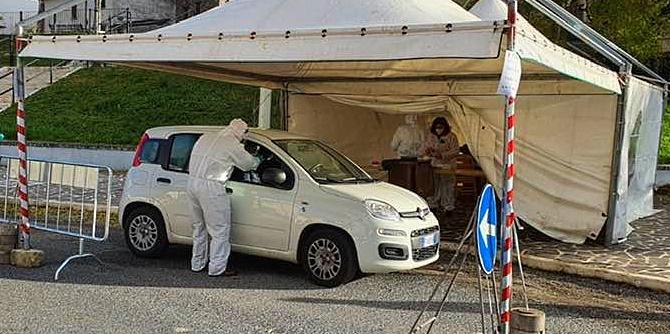Martedì 24 novembre tamponi rapidi nasofaringei presso il punto Drive-in di Cerchio