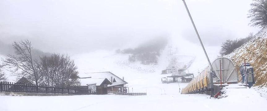Bufera di neve sul Monte Magnola ad Ovindoli
