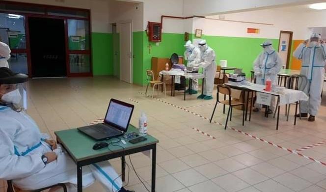 Partita la caccia al virus a Capistrello, screening nel plesso scolastico di Santa Barbara