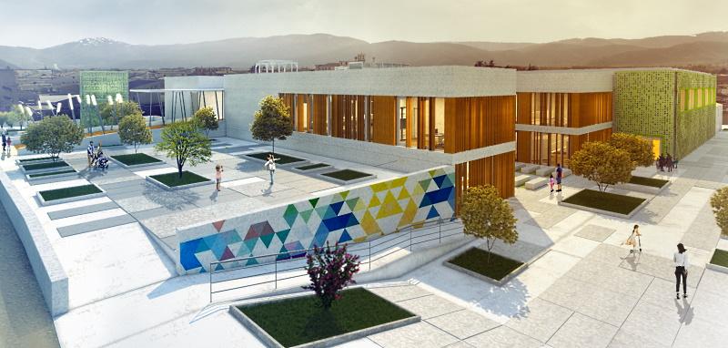 Inizio lavori scuola Marruvium a San Benedetto de' Marsi, architettura sana ed educativa