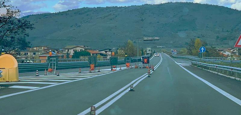 Ripristinata la viabilità sulla superstrada del Liri tra Capistrello e Civitella Roveto