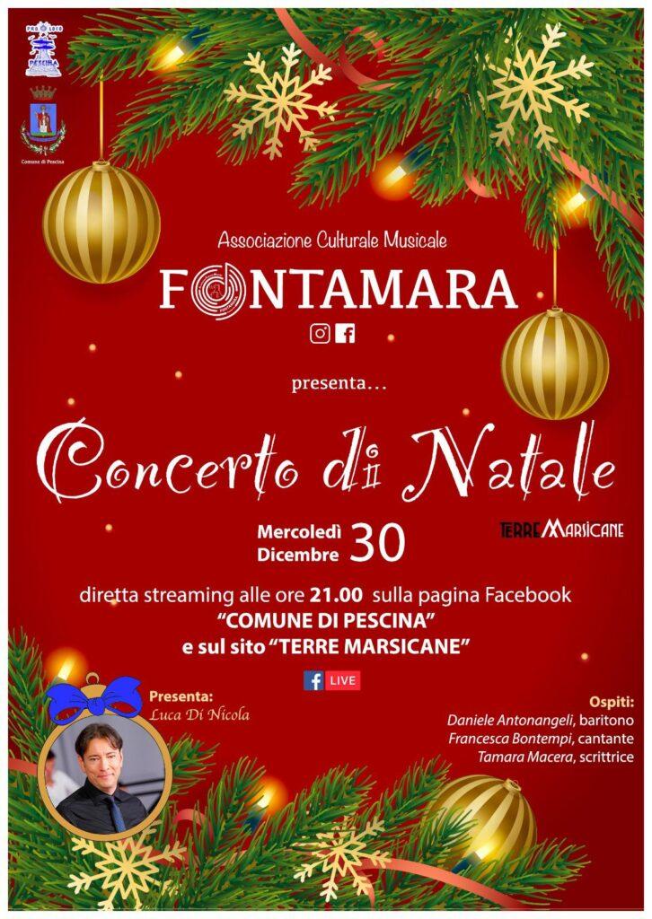 Si alza il sipario sul I° Concerto di Natale Città di Pescina, organizzato dall'Associazione cultural musicale Fontamara