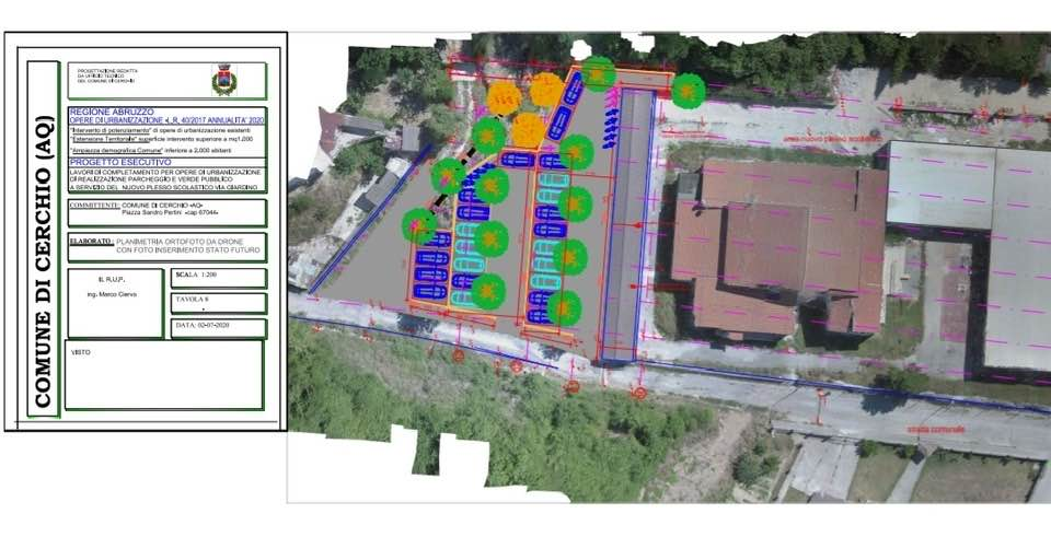 Fondi al comune di Cerchio per opere di urbanizzazione
