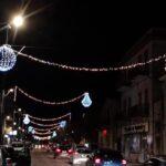 Si accendono le luci di Natale nelle vie principali di Carsoli