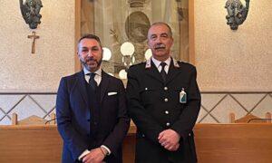 Il sindaco Vincenzo Giovagnorio e comandante del corpo della Polizia Municipale Paolo Ronci