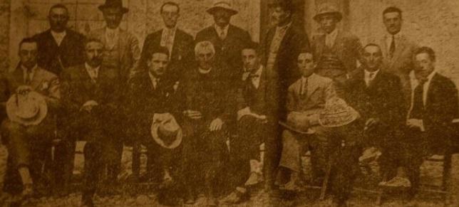 Erminio Vincenti e i membri della Casa dell'Agricoltore di Trasacco
