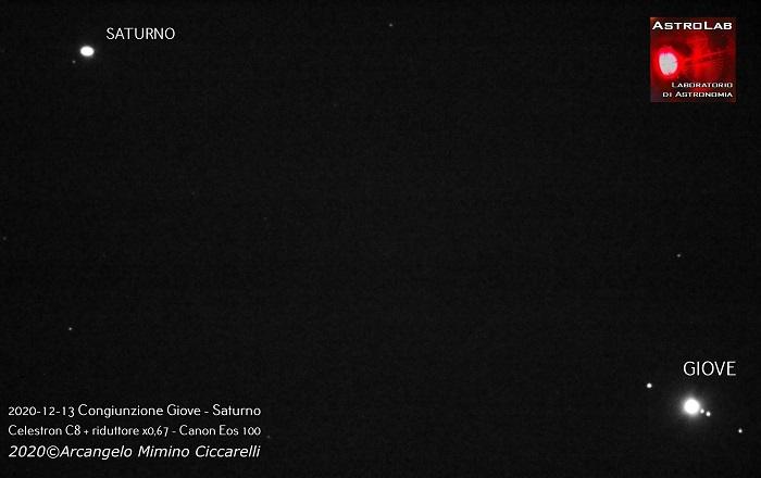 21 dicembre: una rara congiunzione dei pianeti Giove e Saturno