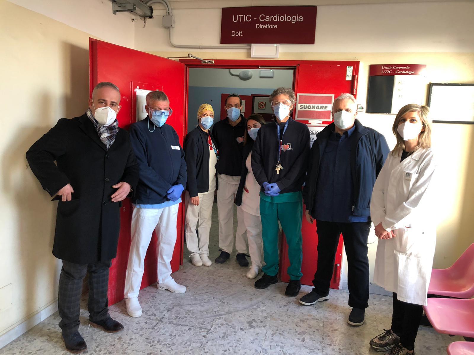Donati dispostivi di sicurezza Covid al pronto soccorso e all'UTIC dell'ospedale di Avezzano